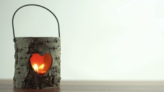 Candle lantern - love message loop clip Stock Footage