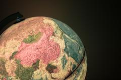 OUT OF FOCUS: Globe with politics map on it ( vintage effect ) Stock Photos