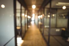 Blur view of office corridor and workspace Stock Photos