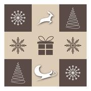 Christmas wish card Stock Illustration