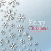 Christmas snow flakes wish card Stock Illustration