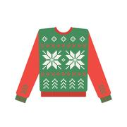 Ugly christmas sweater with deer pattern Stock Illustration
