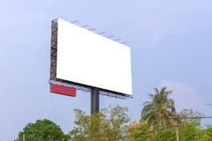 Large Blank billboard ready for new advertisement Kuvituskuvat