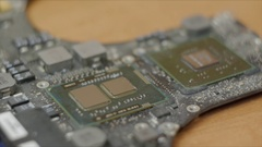 Specialist produces laptop repair, replacement of thermal paste Stock Footage