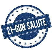 21 GUN SALUTE stamp sign Stock Illustration