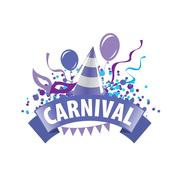 Carnival vector logo Stock Illustration