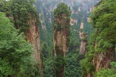 Zhangjiajie National forest park at Wulingyuan Hunan China Stock Photos