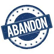 ABANDON stamp sign Stock Illustration