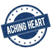 ACHING HEART stamp sign Piirros