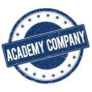 ACADEMY COMPANY stamp sign Stock Illustration