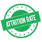 ATTRITION RATE stamp sign green Stock Illustration