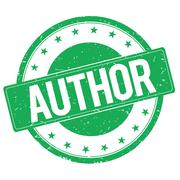 AUTHOR stamp sign green Stock Illustration