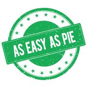AS EASY AS PIE stamp sign green Piirros