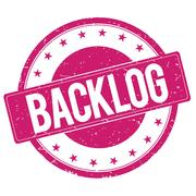 BACKLOG stamp sign magenta pink Stock Illustration
