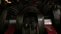 Engine Crankshaft In Operation Stock Footage