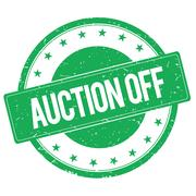 AUCTION OFF stamp sign green Stock Illustration
