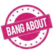 BANG-ABOUT stamp sign magenta pink Piirros