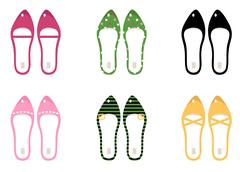 NEW IN SHOP : Designers luxury shoes 60s Stock Illustration