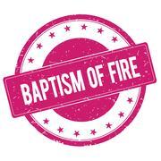 BAPTISM-OF-FIRE stamp sign magenta pink Stock Illustration