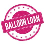 BALLOON-LOAN stamp sign magenta pink Stock Illustration