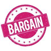 BARGAIN stamp sign magenta pink Stock Illustration
