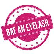 BAT-AN-EYELASH stamp sign magenta pink Stock Illustration