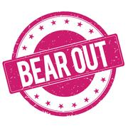 BEAR-OUT stamp sign magenta pink Stock Illustration