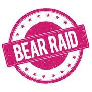 BEAR-RAID stamp sign magenta pink Piirros