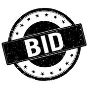 BID stamp sign black. Stock Illustration
