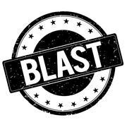 BLAST stamp sign black. Stock Illustration