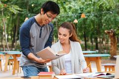 Young couple studying Stock Photos