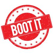 BOOT IT stamp sign red Stock Illustration
