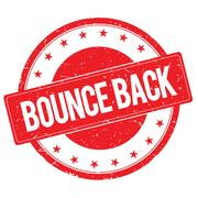 BOUNCE BACK stamp sign red Stock Illustration