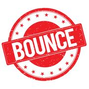 BOUNCE stamp sign red Stock Illustration