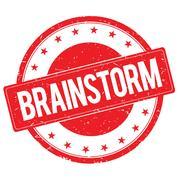 BRAINSTORM stamp sign red Stock Illustration