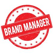 BRAND MANAGER stamp sign red Stock Illustration