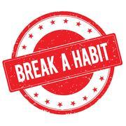 BREAK A HABIT stamp sign red Stock Illustration