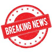 BREAKING NEWS stamp sign red Stock Illustration