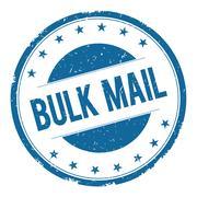 BULK MAIL stamp sign Stock Illustration