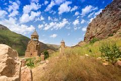 Movement of a stone. Armenia Stock Photos