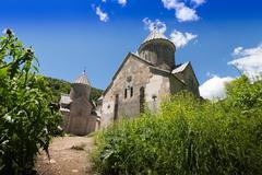 Track to church on the hill. Monastery in Armenia Stock Photos