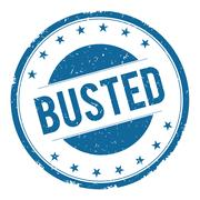 BUSTED stamp sign Stock Illustration