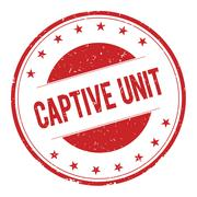 CAPTIVE-UNIT stamp sign Stock Illustration