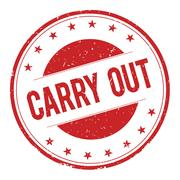 CARRY-OUT stamp sign Stock Illustration