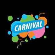 Abstract logo carnival Stock Illustration