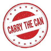 CARRY-THE-CAN stamp sign Stock Illustration