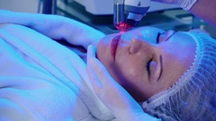 The procedure of wrinkles removal in beauty clinic Stock Footage