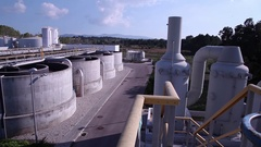 Central of sewage wastewater treatment plant energy Stock Footage