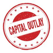 CAPITAL-OUTLAY stamp sign Stock Illustration