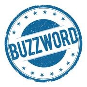 BUZZWORD stamp sign Stock Illustration